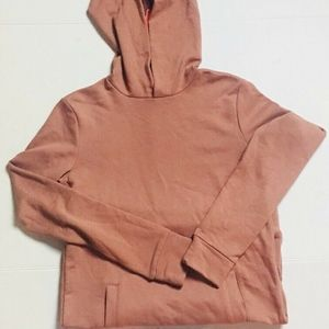 NEW Forever 21 Mauve/Salmon Hoodie XS Long Sleeve